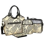 Isoki Reversable Hobo Nappy Bag - Retro Paisley