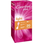 Carefree Plus Incontinence Light Liners - 20 pack
