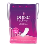 Poise Adult Care Ultra Thin Pads - Active Super 12's