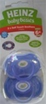 Heinz Baby Basics Soft Touch Orthodontic x 2 Pacifiers 6m+ Lavender