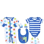 Snugzeez Giraffe Galaxy 5-Piece Value Set Blue - Size 000