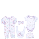 Snugzeez Unicorn Hearts 5-Piece Value Set Pink - Size 000