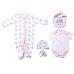Snugzeez Twoo Cute 5-Piece Value Set Pink - Size 0