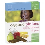 Bellamy's Organic Pinkies - Apple, Banana and Pear Cereal Bars 12m+