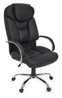 Regency Office Chair - Goliath Big & Tall Black Leather