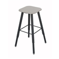 AlphaBetter Adjustable-Height Student Stool with Thermoplastic Seat and Tip-Resistant Base, Beige
