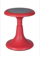"Regency Classroom Seating - Glow 15"" Wobble Stool, Red"