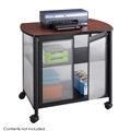 Impromptu Deluxe Machine Stand with Doors, Black