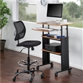 Muv Stand-up Adjustable Height Desk, Cherry