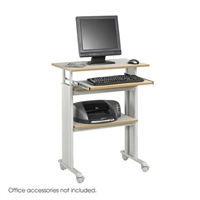 Muv Stand-up Adjustable Height Desk, Gray