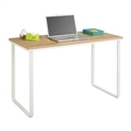 Work From Home Table Desk, Beech, White
