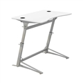 Verve Standing-Height Desk, White