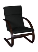 Niche Mia Bentwood Reclining Chair - Mocha Walnut/ Black
