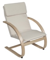 Niche Mia Bentwood Reclining Chair - Natural/ Beige