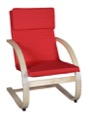 Niche Mia Bentwood Reclining Chair - Natural/ Red