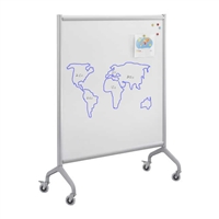 Rumba Training Table - Screen Whiteboard 42 x 66, Gray