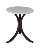 Niche Mia Bentwood Side Table - Mocha Walnut and Beige