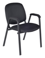 Regency Guest Chair - Ace Stack Chair - Midnight Black