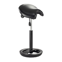 Twixt Extended-Height Saddle Stool, Black Vinyl