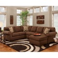 Chocolate U-Shaped Sectional