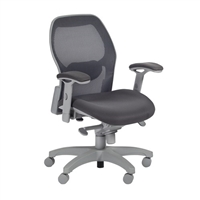 Executive Office Chair - Black Mesh, Adjustable Chair