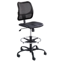 Vue Extended-Height Vinyl Chair, Black Vinyl
