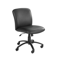 Uber Big and Tall Mid Back Chair - Vinyl, Black