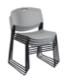 Regency Seating - Zeng Stack Chair (4 pack) - Grey