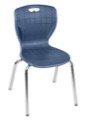 "Regency Classroom Chair - Andy 18"" Stack Chair - Navy Blue"