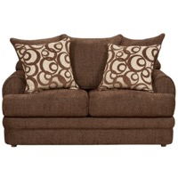 Walnut Chenille Loveseat