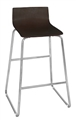 Regency Cafe Stool - Ares High Stool - Mocha Walnut/Chrome