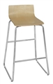 Regency Cafe Stool - Ares High Stool - Natural/Chrome