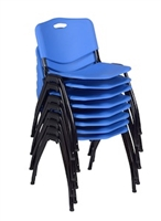 Regency Guest Chair - M Stack Chair (8 pack) - Blue
