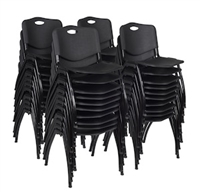 Regency Guest Chair - M Stack Chair (40 pack) - Black