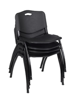 Regency Guest Chair - M Stack Chair (4 pack) - Black