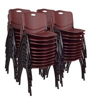 Regency Guest Chair - M Stack Chair (40 pack) - Burgundy