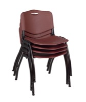 Regency Guest Chair - M Stack Chair (4 pack) - Burgundy