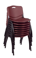 Regency Guest Chair - M Stack Chair (8 pack) - Burgundy