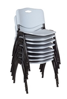Regency Guest Chair - M Stack Chair (8 pack) - Grey