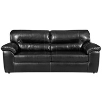 Taos Black Leather Sofa