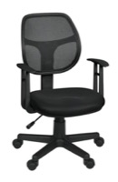 Regency Office Chair - Carter Swivel Chair with Arms - Black