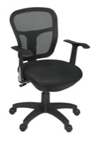 Regency Office Chair - Harrison Swivel Chair - Black