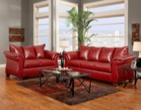Sierra Red Living Room Set