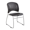 Reve Guest Chair Sled Base Round Back (Qty. 2), Black