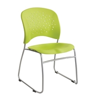 Reve Guest Chair Sled Base Round Back (Qty. 2), Green