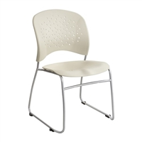 Reve Guest Chair Sled Base Round Back (Qty. 2), Latte