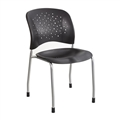Reve Guest Chair Straight Leg Round Back (Qty. 2), Black
