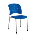Reve Guest Chair Straight Leg Round Back (Qty. 2), Blue