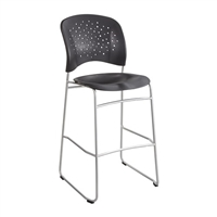 Reve Bistro-Height Chair Round Back, Black