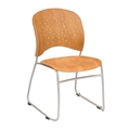 Reve Guest Chair Round Plastic Wood Back (Qty. 2), Natural